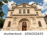 facade of the church | Shutterstock . vector #1036332655