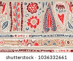 seamless pattern with fantasy... | Shutterstock .eps vector #1036332661