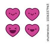 happy heart emojis | Shutterstock .eps vector #1036337965
