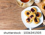 english scones with cream and...   Shutterstock . vector #1036341505