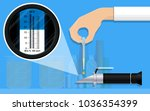 scientist tester laboratory | Shutterstock .eps vector #1036354399