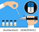 brix wine lab food tool test... | Shutterstock .eps vector #1036354411