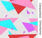 seamless triangle crockery in... | Shutterstock .eps vector #1036359421