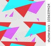seamless triangle crockery in... | Shutterstock .eps vector #1036359424