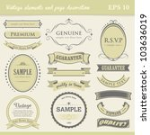 vintage labels  elements and... | Shutterstock .eps vector #103636019