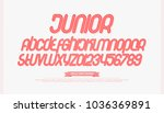 set of cartoon style alphabet... | Shutterstock .eps vector #1036369891