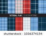 red  white  blue tattersall  ... | Shutterstock .eps vector #1036374154