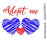 hand drawn adopt me lettering... | Shutterstock .eps vector #1036375927