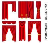 vector illustration. set of red ...   Shutterstock .eps vector #1036379755
