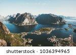 norway landscape reinebringen... | Shutterstock . vector #1036394965