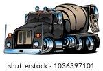 cement mixer truck cartoon...   Shutterstock .eps vector #1036397101