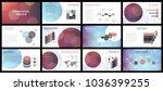 business presentation templates.... | Shutterstock .eps vector #1036399255