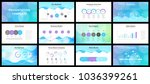 business presentation templates.... | Shutterstock .eps vector #1036399261