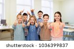education  school and people... | Shutterstock . vector #1036399837