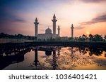 bukit jelutong mosque in...   Shutterstock . vector #1036401421