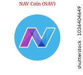 vector nav coin  nav  digital... | Shutterstock .eps vector #1036404649