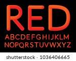 neon red bubble typeset. fluid... | Shutterstock .eps vector #1036406665