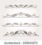 set of calligraphic floral... | Shutterstock .eps vector #103641071
