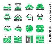 Plantation Agriculture Icon Set