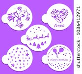 celebration coffee stencils  | Shutterstock .eps vector #1036412971