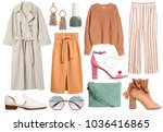 a set of fashionable clothes... | Shutterstock . vector #1036416865