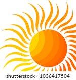 the sun. vector illustration | Shutterstock .eps vector #1036417504