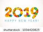 2019 a happy new year xmas...   Shutterstock .eps vector #1036420825