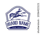 retro horse rodeo logo template   Shutterstock .eps vector #1036422121