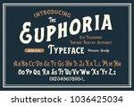 original handmade alphabet.... | Shutterstock .eps vector #1036425034