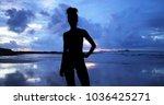 single silhouette of sensual...   Shutterstock . vector #1036425271