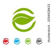 "eco logo with letter ""e"" vector ... | Shutterstock .eps vector #1036428631"