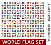 world flags set. flag set icon. ... | Shutterstock .eps vector #1036432945