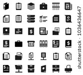 flat vector icon set   case... | Shutterstock .eps vector #1036436647