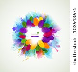 background with abstract ... | Shutterstock .eps vector #103643675