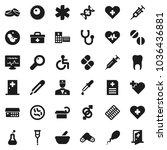 flat vector icon set   heart... | Shutterstock .eps vector #1036436881