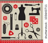 sewing related elements on... | Shutterstock .eps vector #103643711