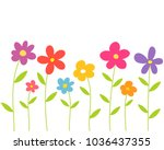 colorful spring flowers. vector ... | Shutterstock .eps vector #1036437355