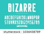 weird style alphabet letters... | Shutterstock .eps vector #1036438789