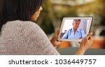 attractive black woman video... | Shutterstock . vector #1036449757