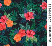 floral seamless pattern.... | Shutterstock .eps vector #1036449895