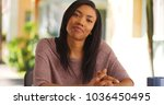 attractive stylish black... | Shutterstock . vector #1036450495