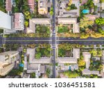 aerial view of an intersection... | Shutterstock . vector #1036451581