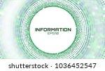 circle geometric bigdata... | Shutterstock .eps vector #1036452547