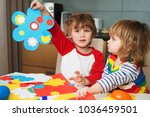 creative children play with... | Shutterstock . vector #1036459501