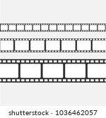 set of vector film strip... | Shutterstock .eps vector #1036462057