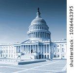 us capitol building  washington ... | Shutterstock . vector #1036463395