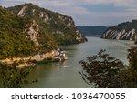 danube gorge  romania serbia  ... | Shutterstock . vector #1036470055