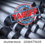 steel and aluminum tariffs in... | Shutterstock . vector #1036475635