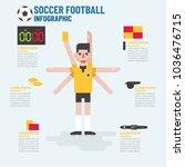 infographic concept  soccer... | Shutterstock .eps vector #1036476715
