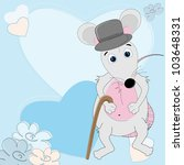 mouse gentleman. valentine day... | Shutterstock .eps vector #103648331